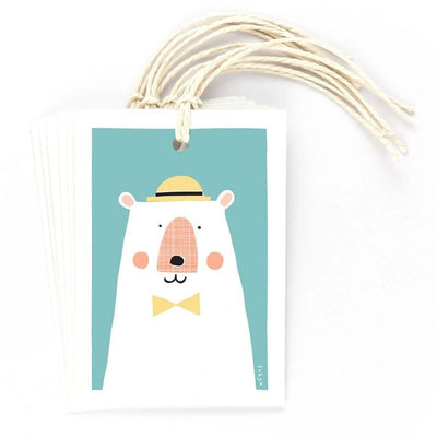 Blue Bear Gift Tags Set of 6 Freya Art & Design