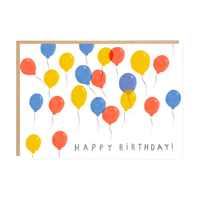 Balloons Birthday Card