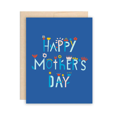 Blue Flower Happy Mother's Day Card