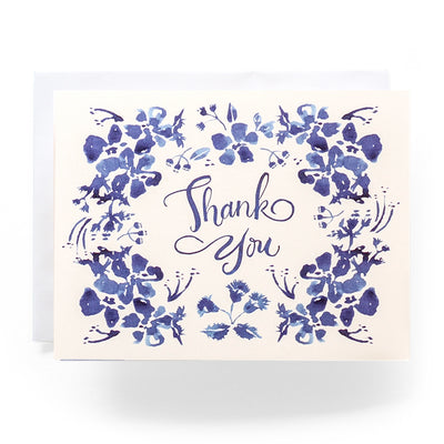 Blue Wildflower Thank You Card Set of 8 Antiquaria