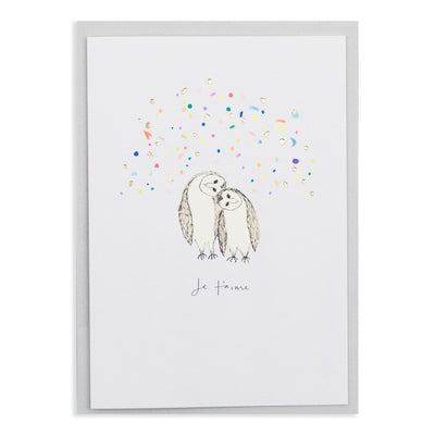 Je t'Aime Valentine Owls Card Katie Housley