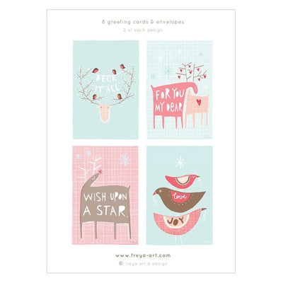 A Little Box of Christmas Cards / Boxed Set of 8 Freya Art & Design