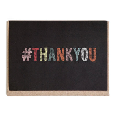 Chalkboard Thank You Greeting Card