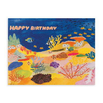 Coral Reef Birthday Card Small Adventure