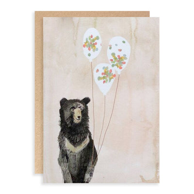 Horris the Bear Birthday Greeting Card