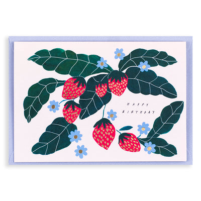 Happy Birthday Strawberry Card Katie Housley