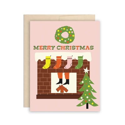 Santa Fireplace Holiday Christmas Card The Beautiful Project
