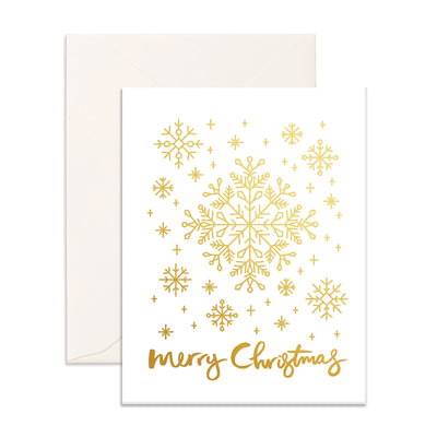 Christmas Snowflakes Card Fox & Fallow