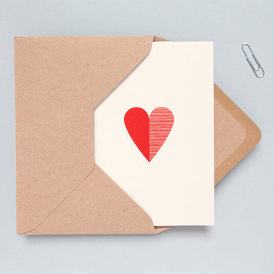 Foil Blocked Red Heart Card Ola