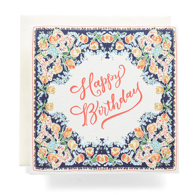 Handkerchief Happy Birthday Card Antiquaria