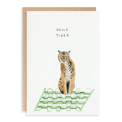 Hello Tiger Greeting Card Dear Prudence