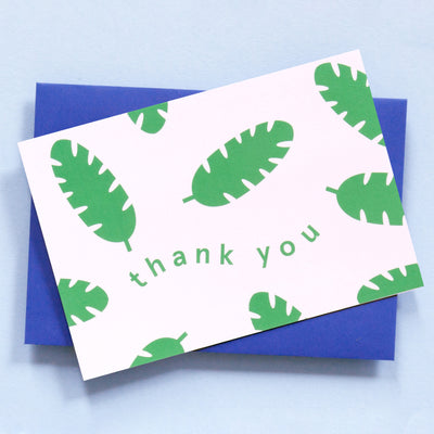 Botanical Thank You Card Ola