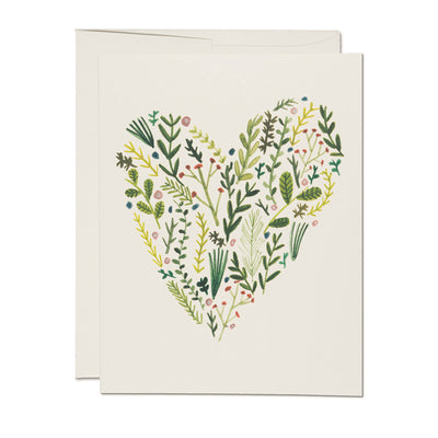 Floral Heart Card Red Cap Cards