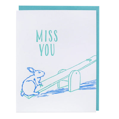 Lonely Seesaw Missing You Card Smudge Ink