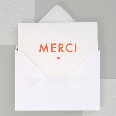 Foil Blocked Merci Card Ola