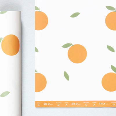 Oranges Print Gift Wrap / Two Sheets Ola