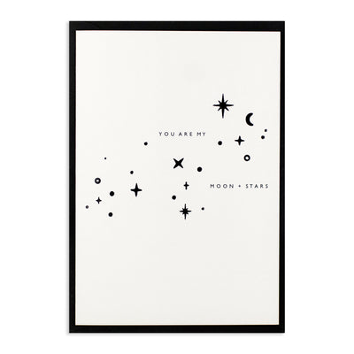 You Are My Moon + Stars Card Katie Housley