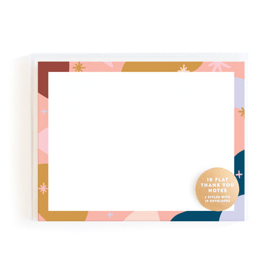 Abstract Blank Flat Notes Set of 10 Fox & Fallow