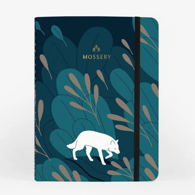 Night Wolf Wirebound Notebook Mossery