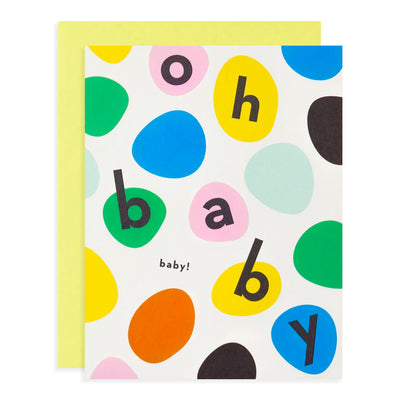 Oh Baby Baby! Bouncing Dots Card My Darlin'