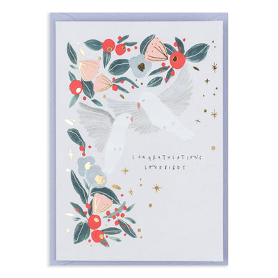 Congratulations Lovebirds Card Katie Housley
