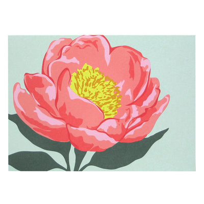 Pink Peony Boxed Cards Set of 10 Smudge Ink