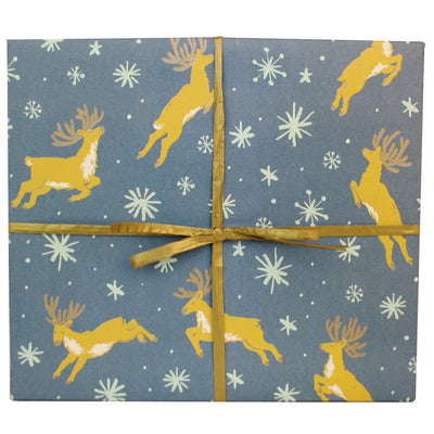 Reindeer Gift Wrap / 3 Sheets Smudge Ink