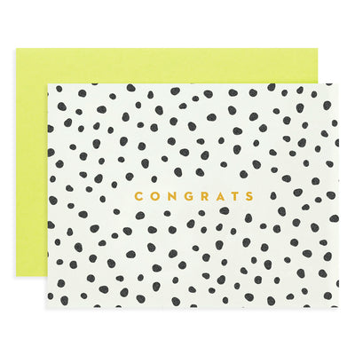 Spotted Gold Foil Congrats Card My Darlin'