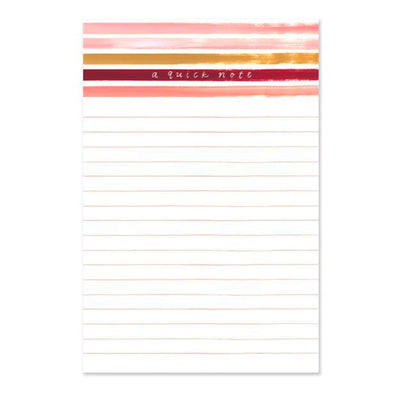 Sunset Stripe Notepad 1canoe2