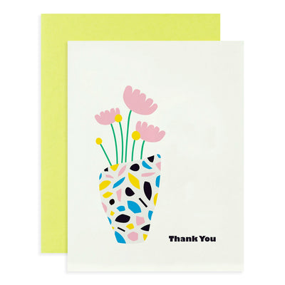 Terrazzo Vase Thank You Card My Darlin'