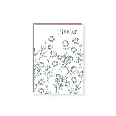 Roses Thanks Greeting Card Egg Press
