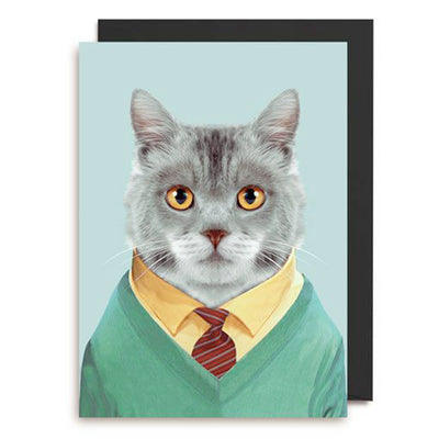 Zoo Portrait Cat Greeting Card