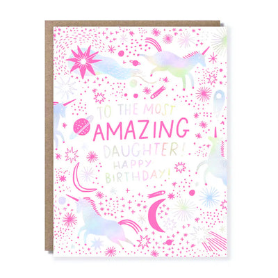 Amazing Daughter Birthday Card