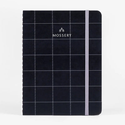 Black Plaid Wirebound Notebook Mossery