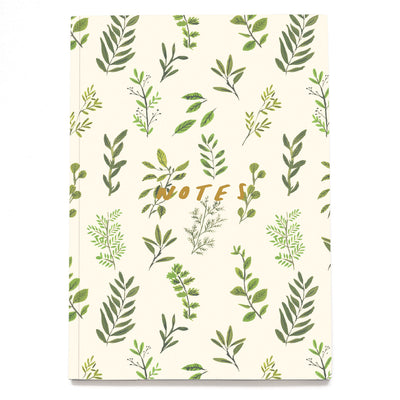 Plants Linen Notebook Old English Company