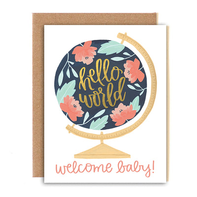 Welcome Baby Globe Card 1canoe2