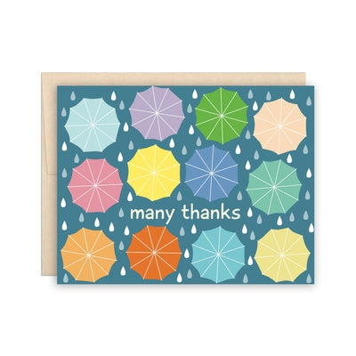 Rainy Day Umbrella Thank You Card The Beautiful Project