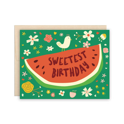 Sweetest Birthday Watermelon Card The Beautiful Project