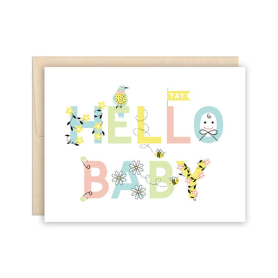 Hello Baby Card The Beautiful Project
