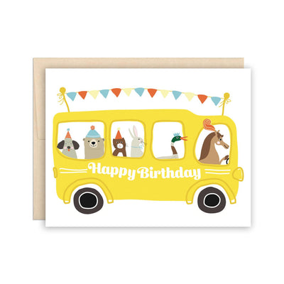 School Bus Birthday Card The Beautiful Project
