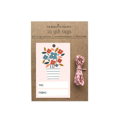 Flowerpot Gift Tags Set of 10 The Beautiful Project