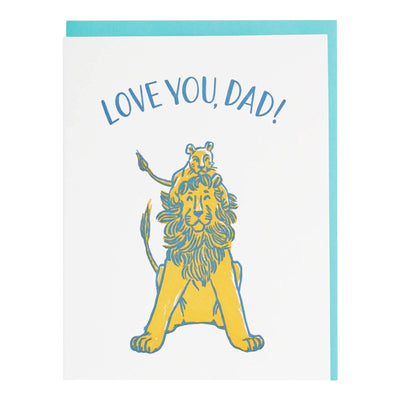 Lion and Cub Father's Day Card Smudge Ink