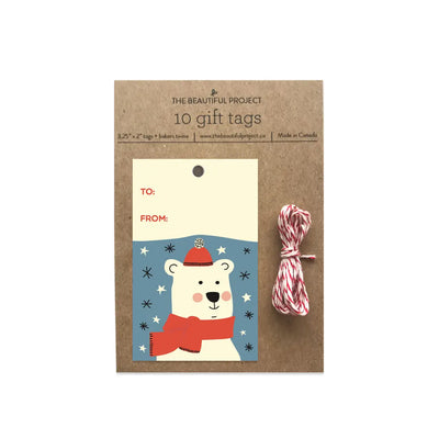 Polar Bear Christmas Holiday Gift Tags Set of 10 The Beautiful Project