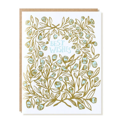 Rose Bush Best Wishes Card Egg Press