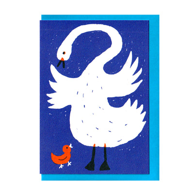 Swan and Cygnet Card The Printed Peanut