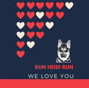"SQUARE BUTTON - ""RUN HEIDI RUN"""