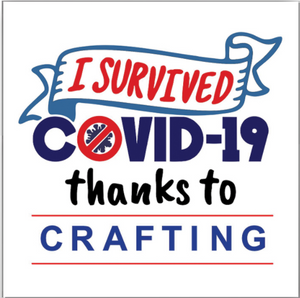 "SQUARE BUTTON - ""SURVIVED COVID"""