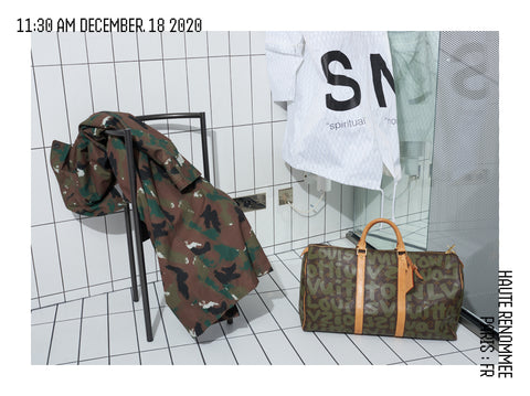 LOUIS VUITTONx STEPHEN SPROUSE,  KEEPALL 50  Sac de voyage monogramme GRAFFITI