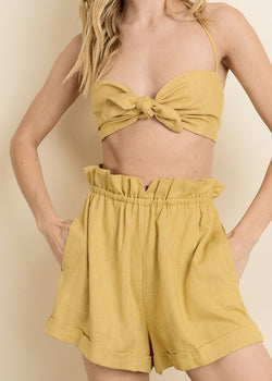 Hang Loose Bandeau Top - Gold