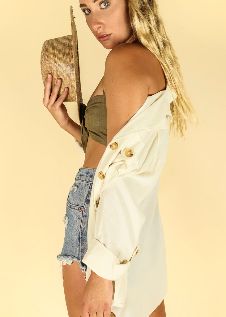 Ivory Flow Top